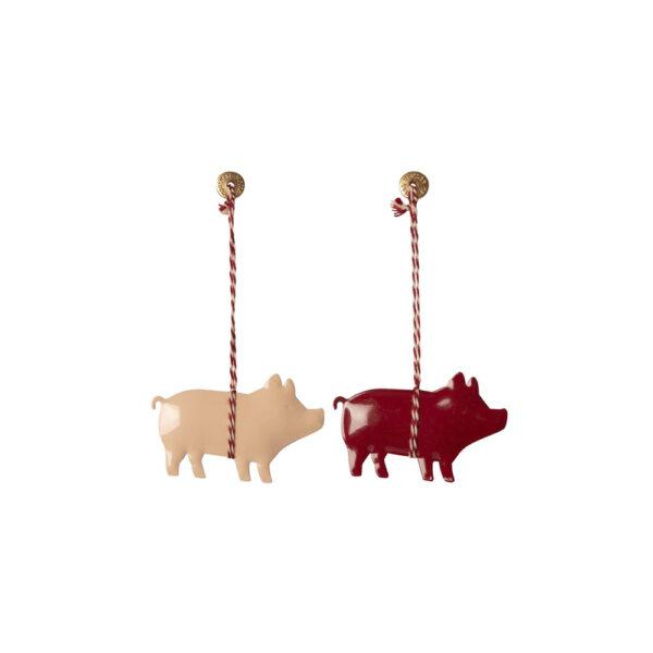 Adorno de navidad – cerdito metálico – Maileg – decoracion – Liderlamp