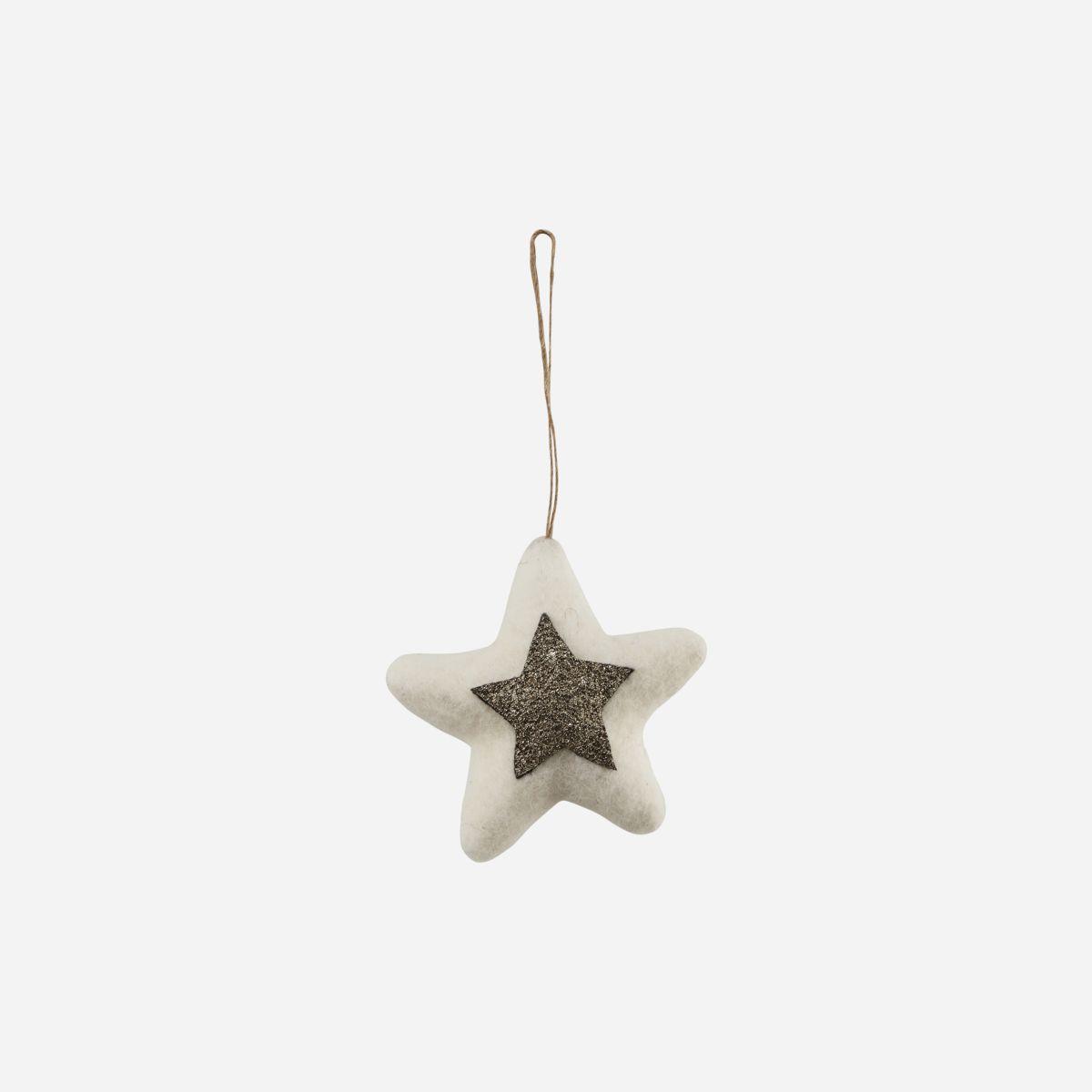Adorno estrella fieltro - House Doctor - decoracion Navidad - lana - Liderlamp (1)