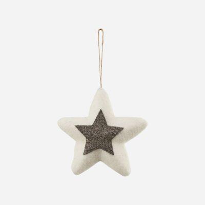 Adorno estrella fieltro - House Doctor - decoracion Navidad - lana - Liderlamp