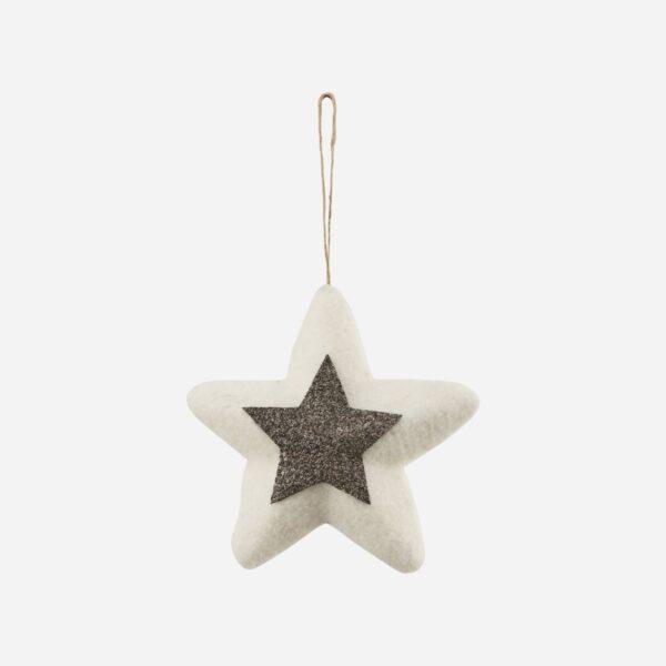 Adorno estrella fieltro – House Doctor – decoracion Navidad – lana – Liderlamp (5)