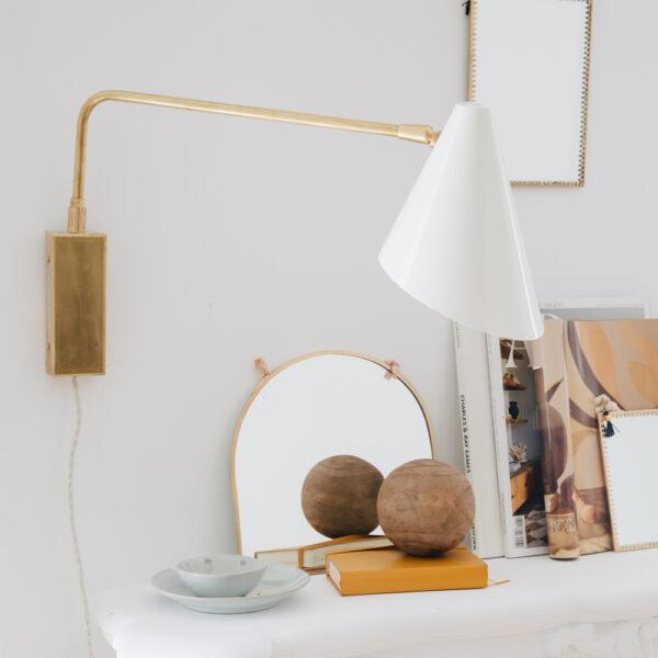 Aplique Maitane – Luz cabecero – foco metal – laton – brazo articulado – Liderlamp (2)
