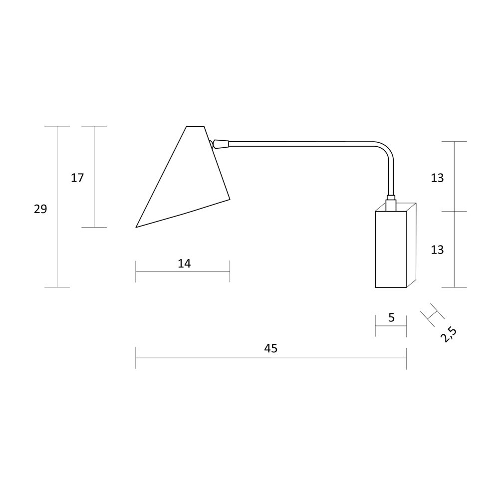 Aplique Maitane - Luz cabecero - foco metal - laton - brazo articulado - Liderlamp (2)