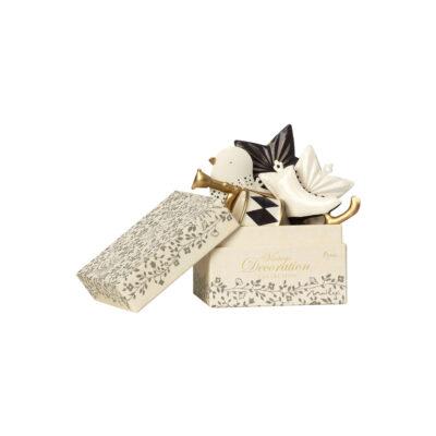 Caja de adornos de Navidad Maileg- Dorado y antracita - Liderlamp (1)