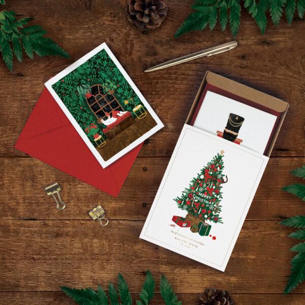 Caja de felicitaciones de Navidad – 8 tarjetas – ilustracion – All the ways to say – Liderlamp (1)