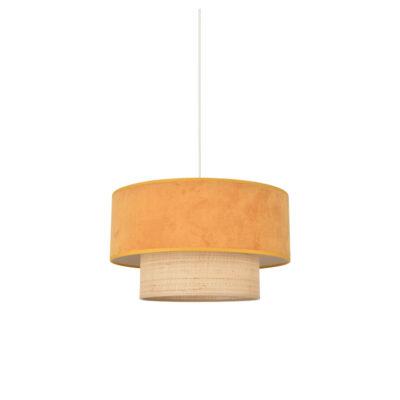 Colgante Boheme - Mostaza - rafia y terciopelo - Market set - Liderlamp (2)
