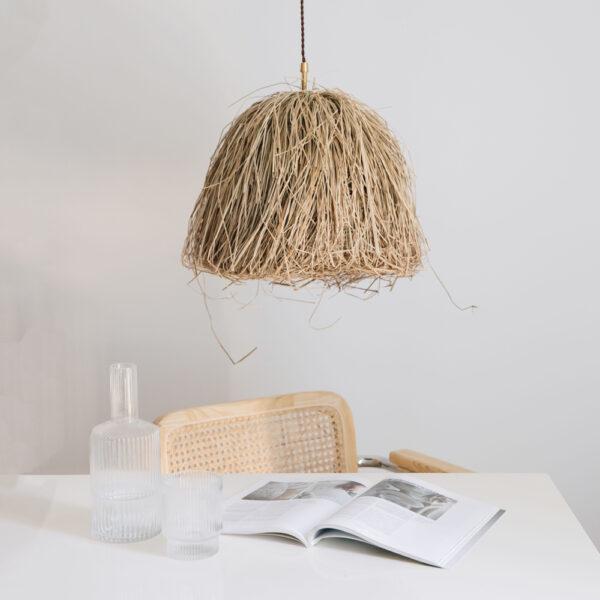 Colgante Gustav – fibras naturales – algas – Liv Interiors – Liderlamp 1