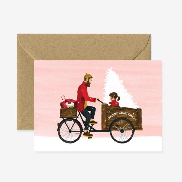 Felicitacion Navidad – Padre e hija – ilustracion – All the ways to say – Liderlamp