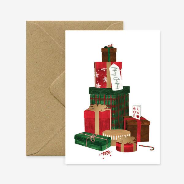 Felicitacion Navidad - Regalos - ilustracion - All the ways to say - Liderlamp