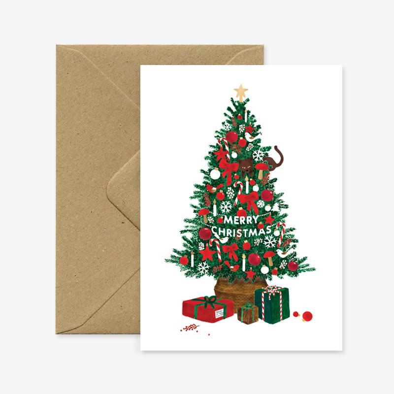 Felicitacion Navidad - arbol de Navidad - All the ways to say - xmas - tarjeta felicitacion - Liderlamp
