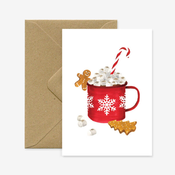 Felicitacion Navidad – chocolate caliente – ilustracion – All the ways to say – Liderlamp