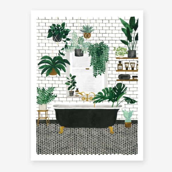 Lamina Bathroom – poster – ilustracion – All the ways to say – cuadro – Liderlamp (3)