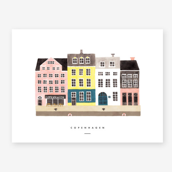Lamina Copenhagen – poster – ilustracion – All the ways to say – cuadro – Liderlamp