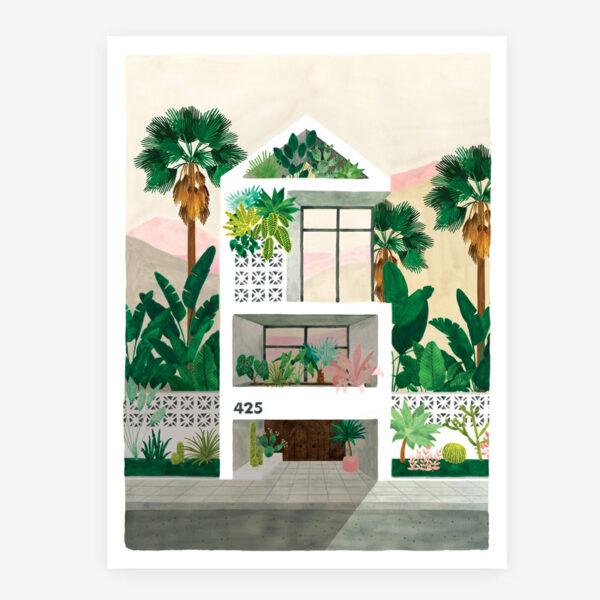 Lamina Dream House - poster - ilustracion - All the ways to say - cuadro - Liderlamp (1)