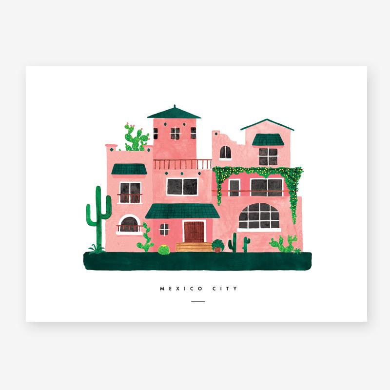 Lamina Mexico City - poster - ilustracion - All the ways to say - cuadro - Liderlamp