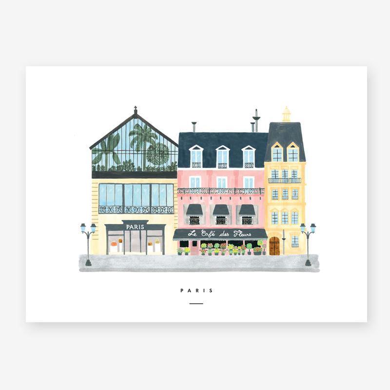 Lamina Paris - poster - ilustracion - All the ways to say - cuadro - Liderlamp