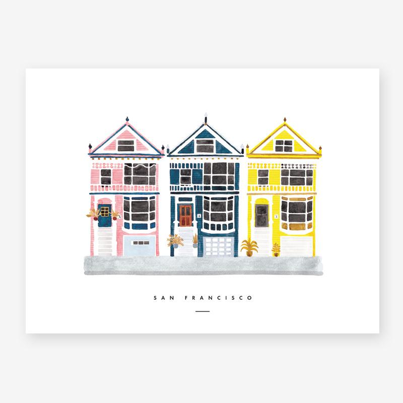 Lamina San Francisco - poster - ilustracion - All the ways to say - cuadro - Liderlamp