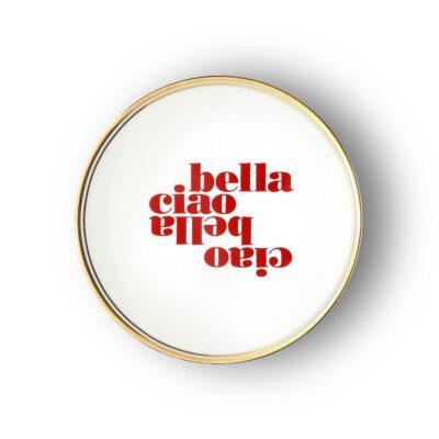 Plato de porcelana Ciao Bella - menaje - Bitossi Home - mesas bonitas - Liderlamp