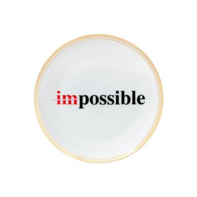 Plato de porcelana Imposible - menaje - Bitossi Home - mesas bonitas - Liderlamp