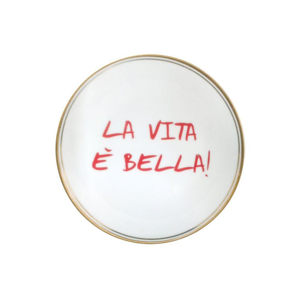 Plato de porcelana La Vita es Bella - menaje - Bitossi Home - mesas bonitas - Liderlamp