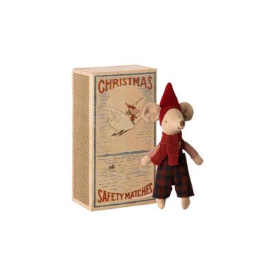 Raton Navidad - Maileg - Big Brother - Juguete de tela - juego tradicional - Liderlamp