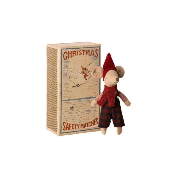 Raton Navidad – Maileg – Big Brother – Juguete de tela – juego tradicional – Liderlamp