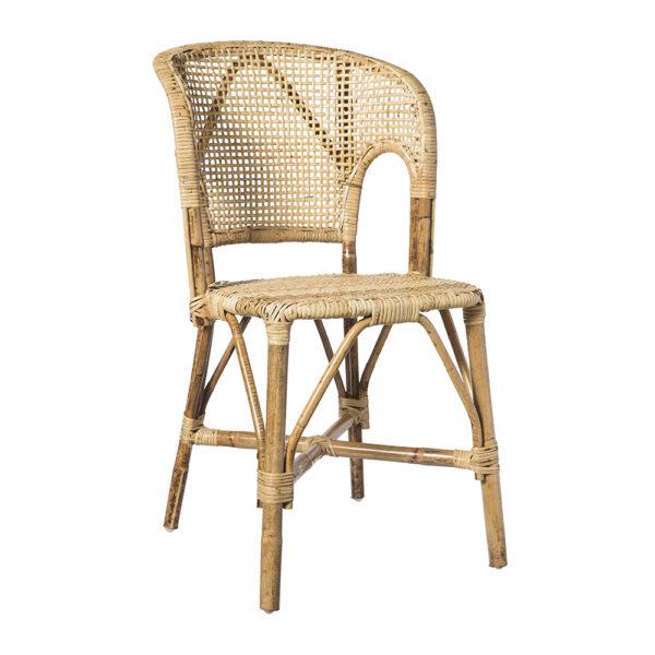 Silla Moritz – comedor – asiento de ratan – Taller de las Indias – Liderlamp (1)