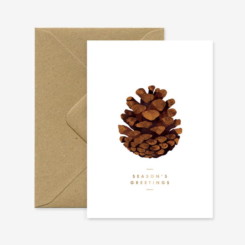 Tarjeta navidena - Pina- xmas - postal - ilustracion - All the ways to say - Liderlamp