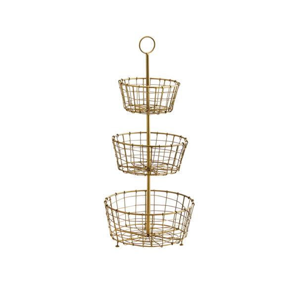 Estante circular Agna – Madam Stoltz – Metal dorado – almacenaje auxiliar – Liderlamp