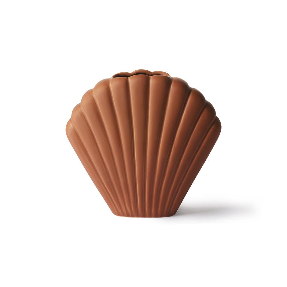 Jarron de Ceramica Concha - HK Living - regalo deco - gres - Liderlamp (1)