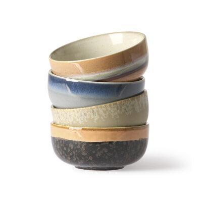 Set 4 Boles de Ceramica - HK Living - menaje - regalo deco - handmade - Liderlamp (1)