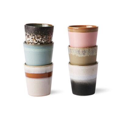 Set 6 Tazas de Ceramica - HK Living - menaje - regalo deco - handmade - Liderlamp (1)