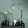 Aplique Folk Folk - cristal opal - base cristal verde - lampara de mesa - Liderlamp (1)