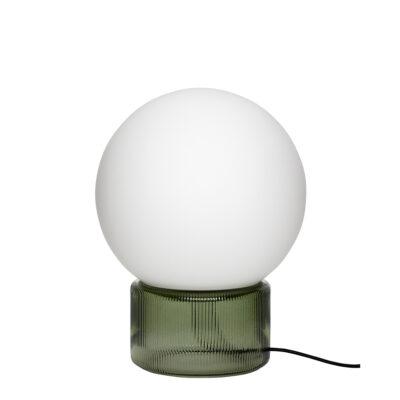 Sobremesa Livia - cristal opal - base cristal verde - lampara de mesa - Liderlamp