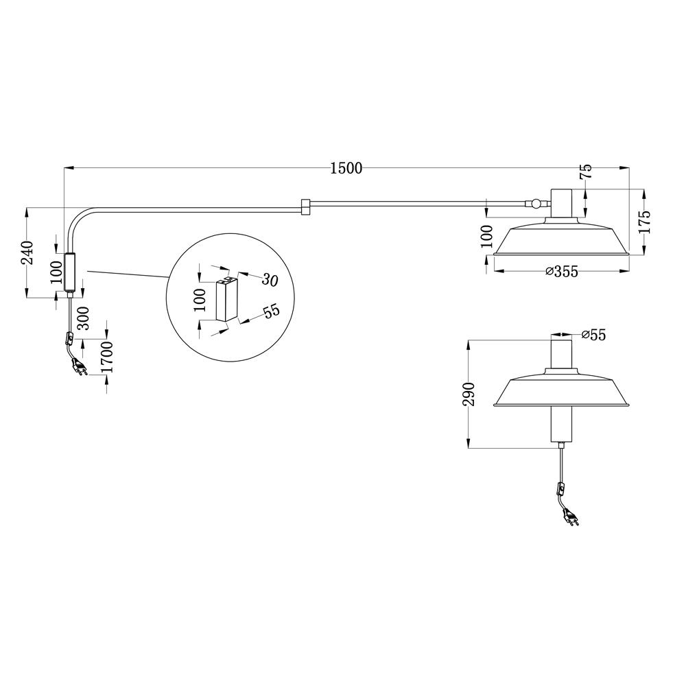 Aplique Bold - Blanco - Trio Iluminacion - brazo articulado - metal - Liderlamp (1)