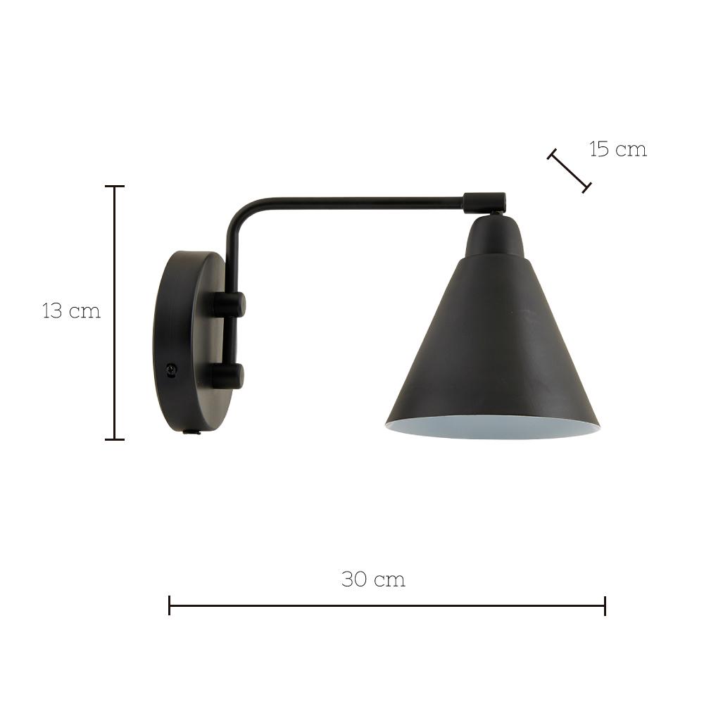 Aplique Game Mini - Negro - House Doctor - cable con interruptor - Liderlamp (1)