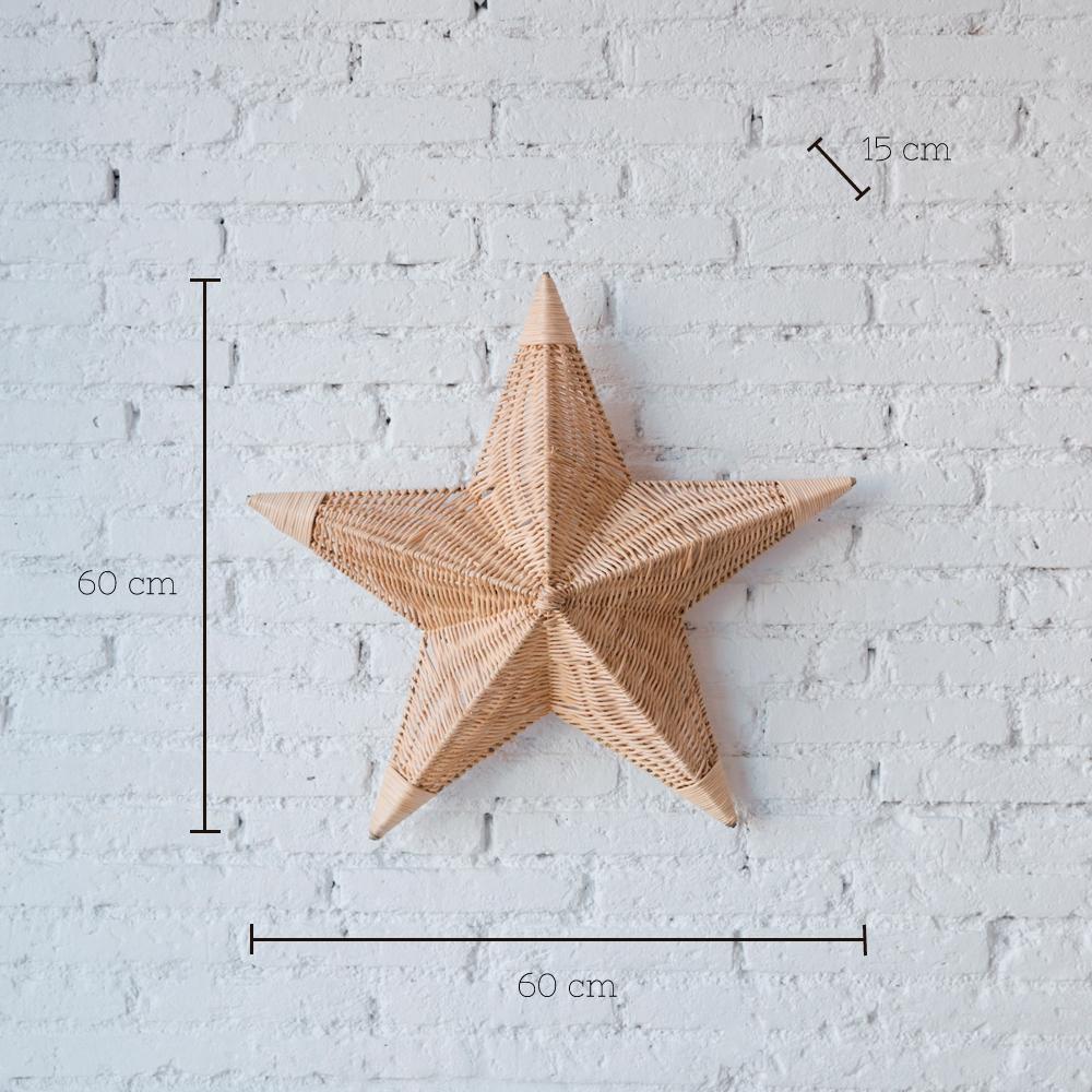 Aplique Betlem - ratan - estrella de mar - Mahe - fibras naturales - Liderlamp (1)