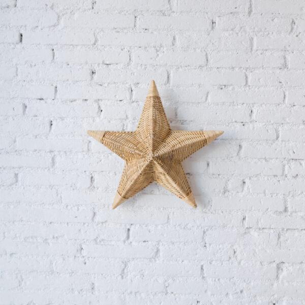 Aplique Betlem – ratan – estrella de mar – Mahe – fibras naturales – Liderlamp 1