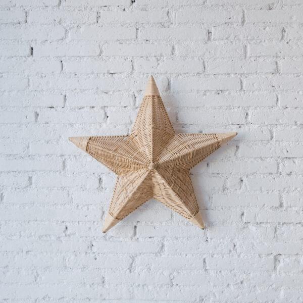 Aplique Betlem – ratan – estrella de mar – Mahe – fibras naturales – Liderlamp (1)
