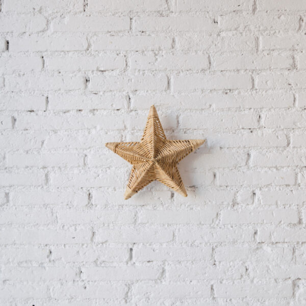 Aplique Betlem - ratan - estrella de mar - Mahe - fibras naturales - Liderlamp 3