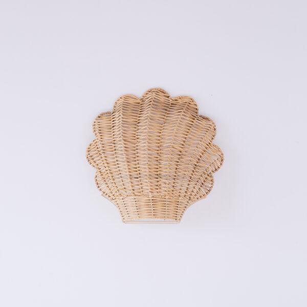 Aplique Blava - ratan - concha marina - Mahe - fibras naturales - Liderlamp (1)