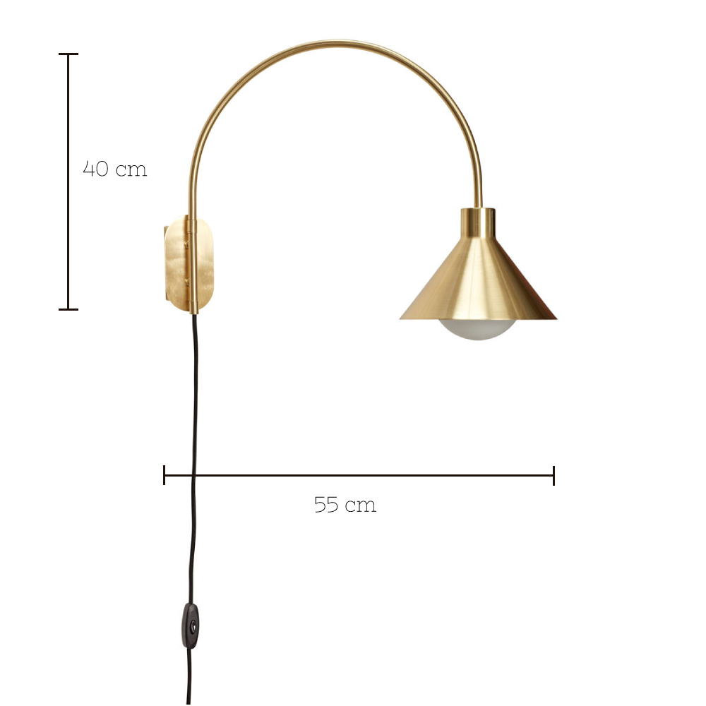 Aplique Dovela - Laton y cristal - Art Nouveau - Arco - Liderlamp (1)