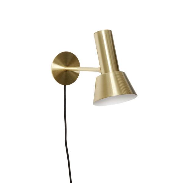 Aplique Lylia – Negro – Laton – metal – cable con interruptor – Liderlamp (1)