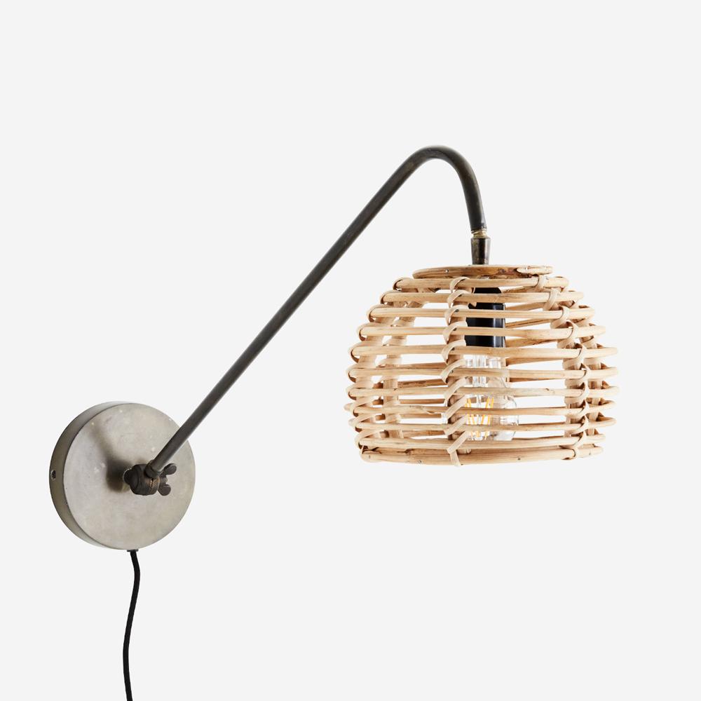 Aplique Phek - Madam Stoltz - bambu y metal - estilo natural - boho - Liderlamp (1)