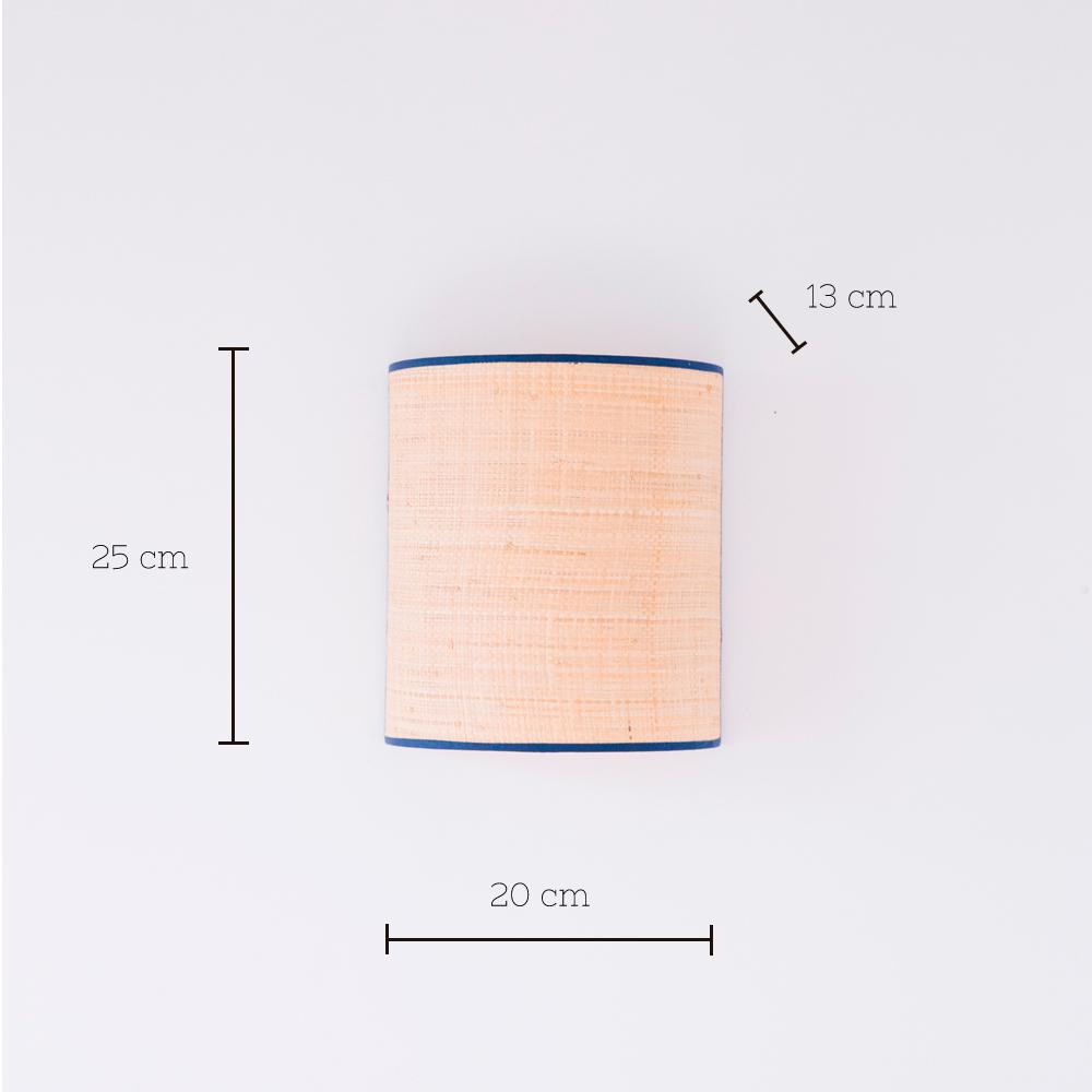 Aplique Serralta - Azul - color natural - Mahe - fibras naturales - Liderlamp
