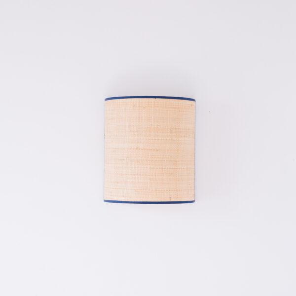 Aplique Serralta – Azul – color natural – Mahe – fibras naturales – Liderlamp