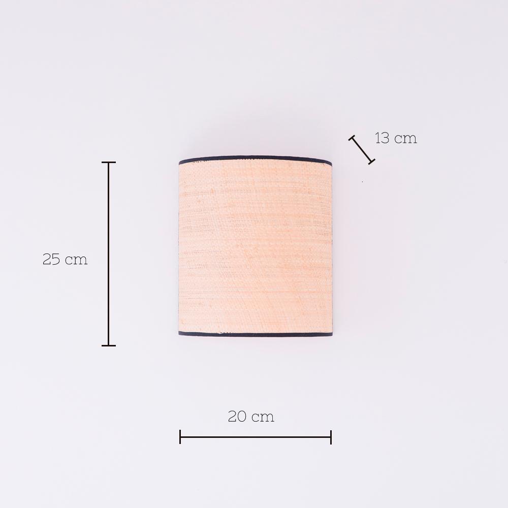 Aplique Serralta - Negro - ratan - color natural - Mahe - fibras naturales - Liderlamp
