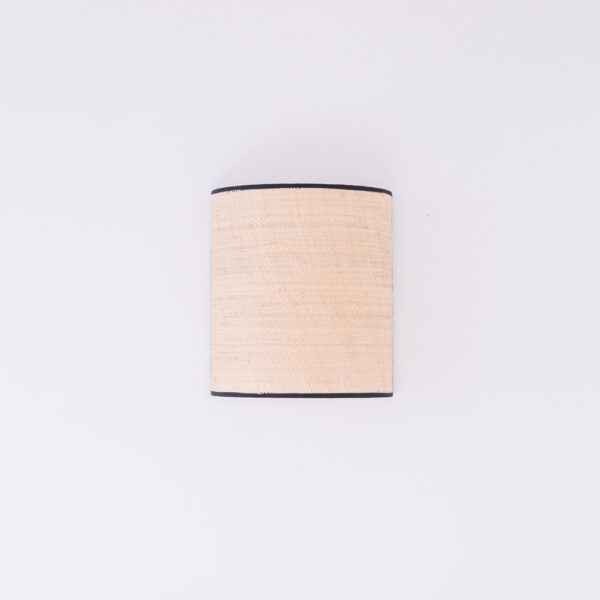 Aplique Serralta – Negro – ratan – color natural – Mahe – fibras naturales – Liderlamp