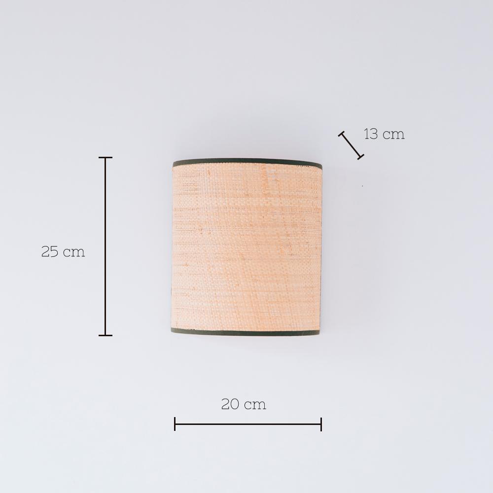 Aplique Serralta - Oliva - ratan - color natural - Mahe - fibras naturales - Liderlamp (1)
