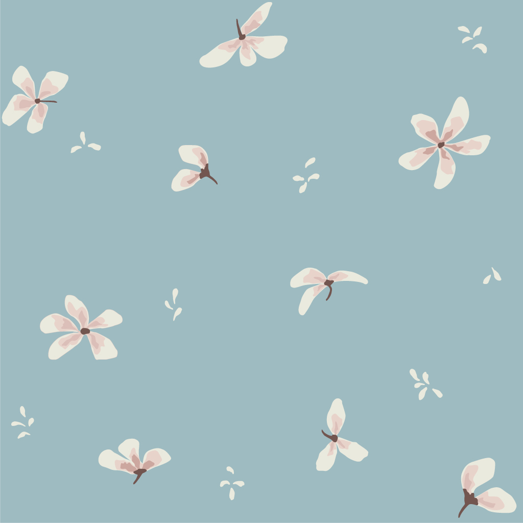 Colchoneta Cannele - flores azules - Camcam - habitacion infantil - montessori - juegos - Liderlamp (3)