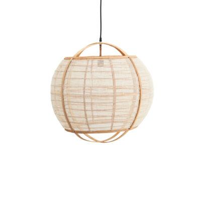 Colgante Baya - Madam Stoltz - bambú y lino - estilo natural